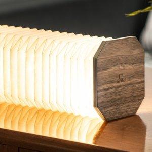 Walnut Smart Accordion Lamp