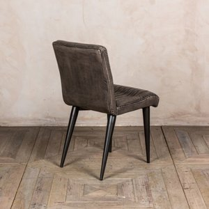 Marie Faux Leather Dining Chairs - Grey