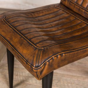 Marie Faux Leather Dining Chairs Brown
