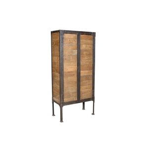Reclaimed teak and iron 'Industrial' style cabinet