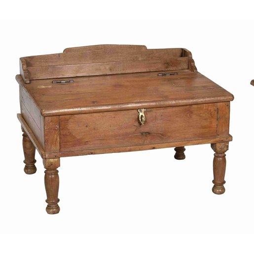 India - Old Furniture Small Teak Desk