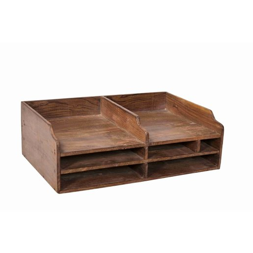 India - Old Furniture Old Colonial Filing Tray