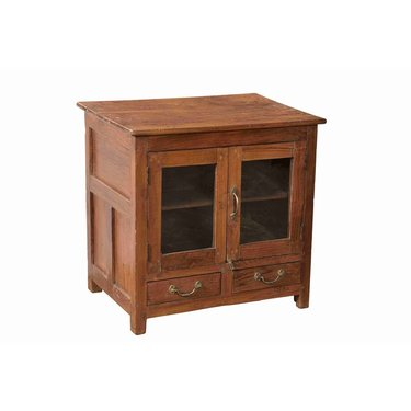 India - Old Furniture Small Glazed Cabinet