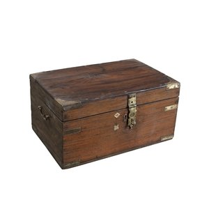 Old Indian Chest with Brass work