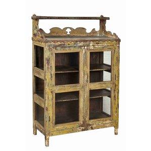 Glazed Painted Vintage Cabinet