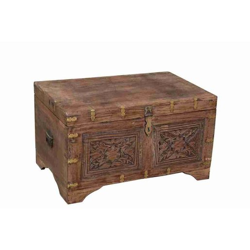 India - Old Furniture Carved Chest