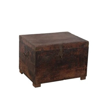 India - Old Furniture Dark Teak Chest