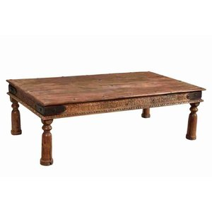 Teak Coffee Table with carving to sides