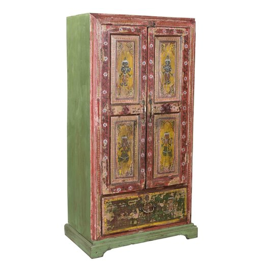 India - Old Furniture Original Hand Painted Cupboard