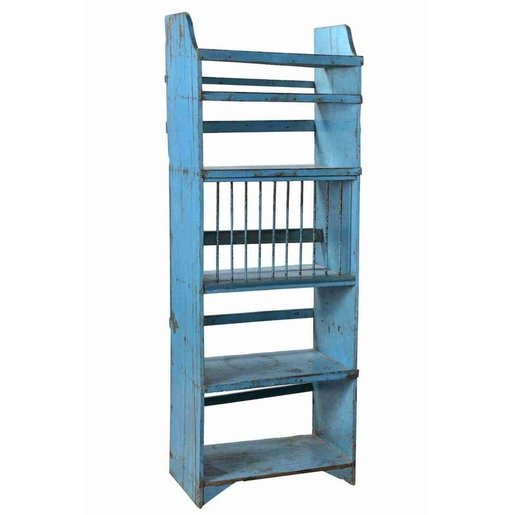 India - Old Furniture Painted Kitchen Rack