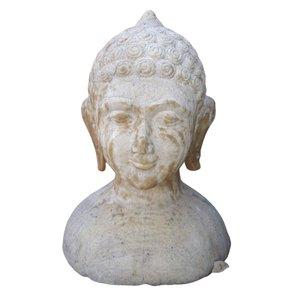 Rare Antique Stone Buddha Bust