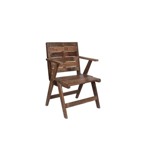India - Old Furniture Retro Style Reclaimed Teak Chair