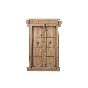 Antique Panel Door with Frame
