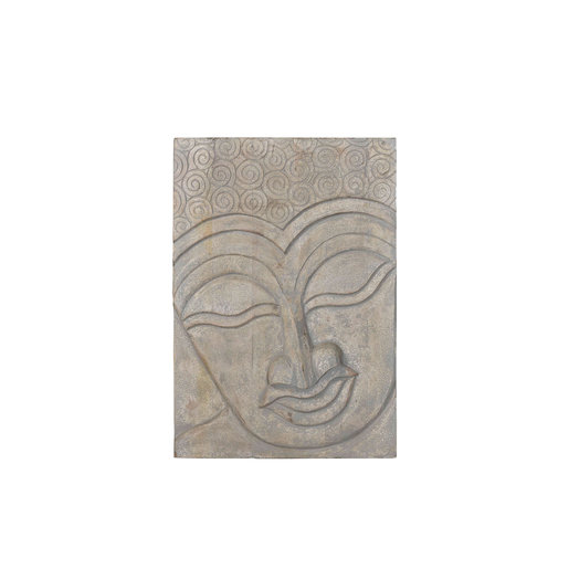 India - Old Furniture Hand Carved Buddha Panel