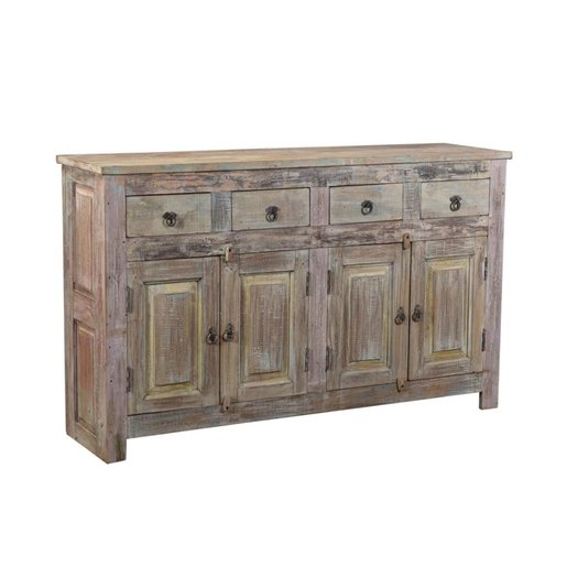 India - Old Furniture Four Door Teak Sideboard