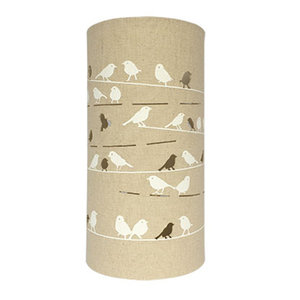 Birds on a Wire Fabric Lamp
