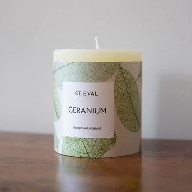 Level 2 Accessories Eden Pillar Candle - Geranium