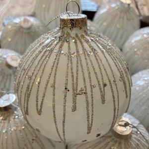 Glitter & Diamante white bauble