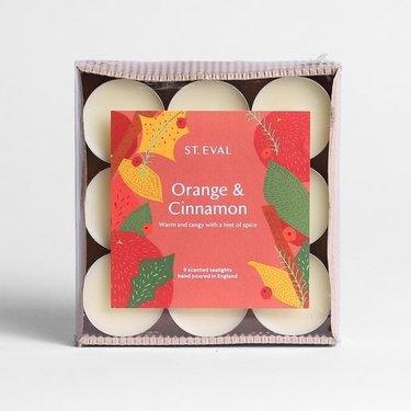 Level 2 Accessories Orange & Cinnamon Christmas Tealights