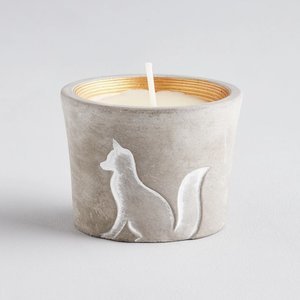 Winter Thyme Christmas Fox Candle Pot