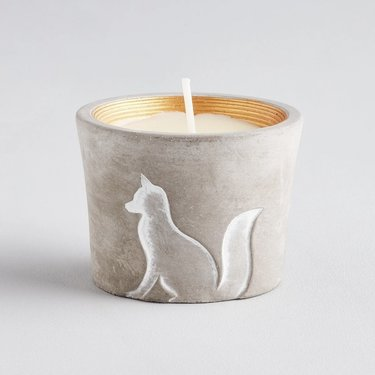 Level 2 Accessories Winter Thyme Christmas Fox Candle Pot