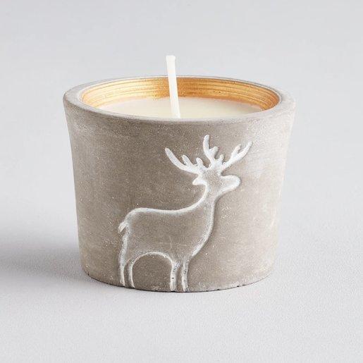 Level 2 Accessories Orange & Cinnamon Christmas Reindeer Candle Pot