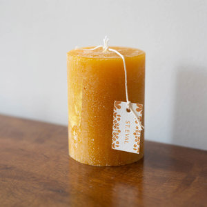 Amber Folk Pillar Candle