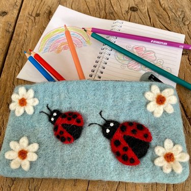 Level 1 Accessories Ladybird Needle Felt Pencil Case