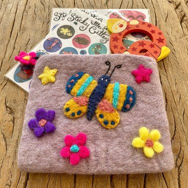 Level 1 Accessories Butterfly Needle Felt Purse