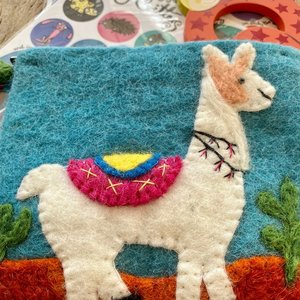 Llama Needle Felt Purse