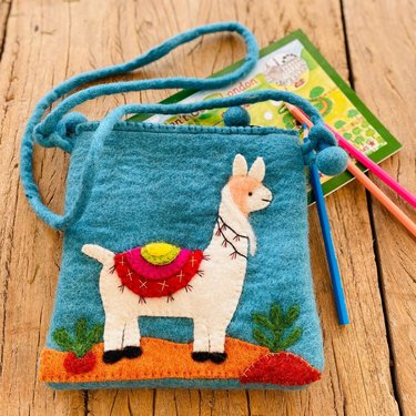 Level 2 Accessories Llama Needle Felt Shoulder Bag