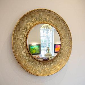 Golden Filigree Mirror