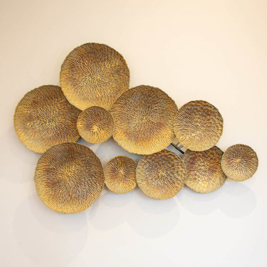 Level 1 Accessories Circular & Gold Shell Art