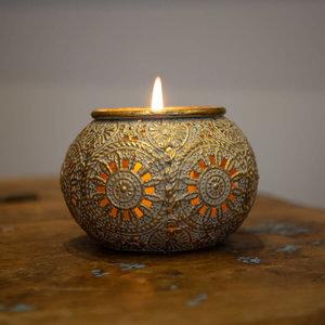 Gold Filigree Candle Holder
