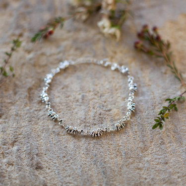 India - Jewellery & Gifts Silver Small Elephant Bracelet