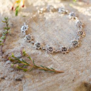 Silver Om Star Bracelet