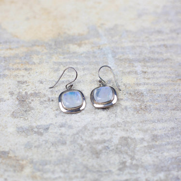 India - Jewellery & Gifts Silver & Moonstone Drop Earrings