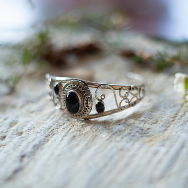 India - Jewellery & Gifts Silver & Black Onyx Bracelet