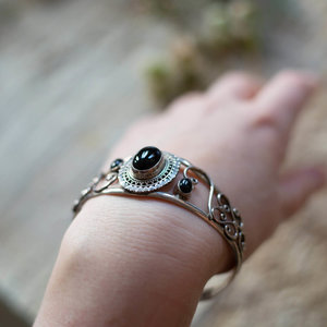 Silver & Black Onyx Bracelet