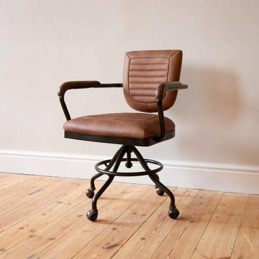 Furniture - UK & Euro Mustang Leather Office Chair