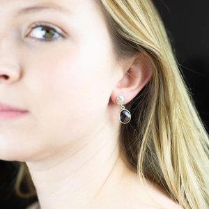Silver & Smoky Quartz Earrings