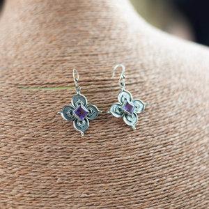 Silver & Amethyst Earrings