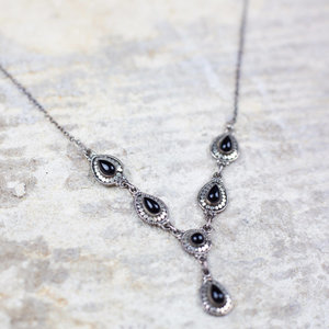 Silver & Onyx Necklace