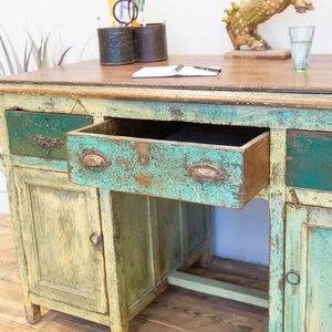 Old Teak Writing Desk