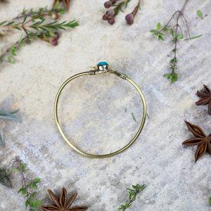 Leaf & 'Turquoise' Stone Bracelet