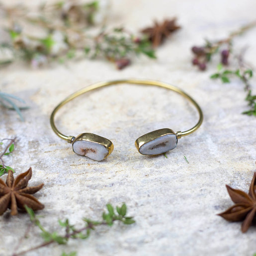 India - Jewellery & Gifts Faux Gold & 'Quartz Crystal' Bracelet