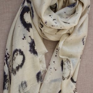 Pure Cashmere Pashmina - Abstract Ink