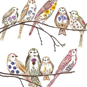 Wildflower Sparrows Card