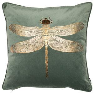 Dragonfly Velvet Cushion