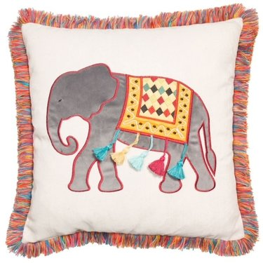 Level 1 Accessories Elephant with Tassles Cushion